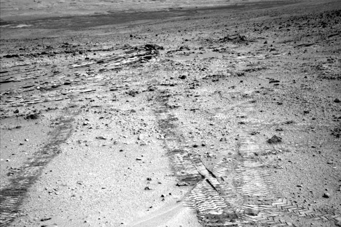 Curiosity looks back at Glenelg