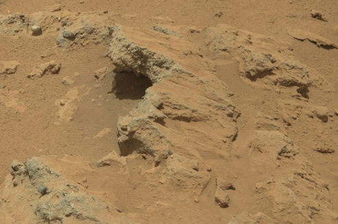Ancient Martian streambed