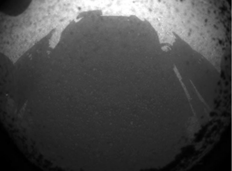 Curiosity rover's shadow
