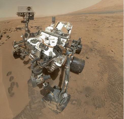 Curiosity rover self portrait