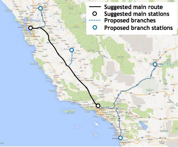 Hyperloop route map