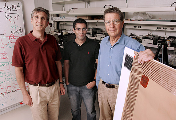 Princeton University professors James Sturm, Naveen Verma and Sigurd Wagner