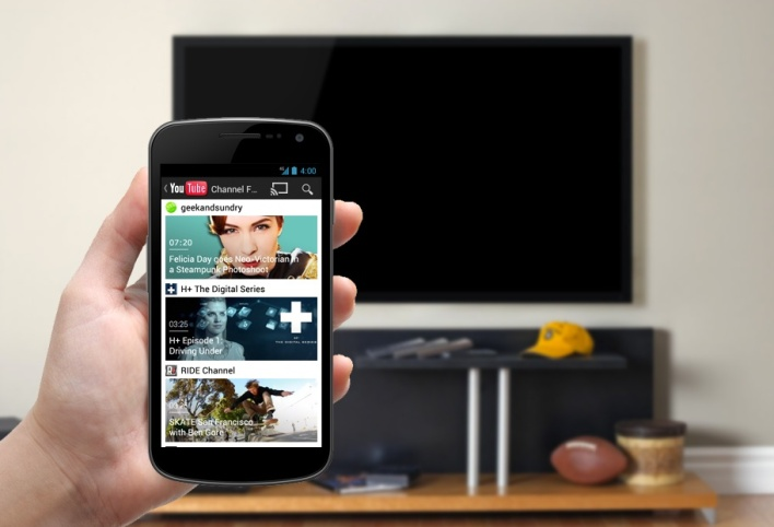 DIAL powers YouTube's multiscreen solution, which makes it possible to send videos straight from the phone to the TV.