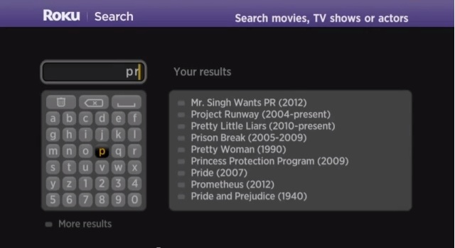 Companies like Roku have are using auto-suggestions to minimize the need to type, but onscreen keyboards are nonetheless pretty painful.