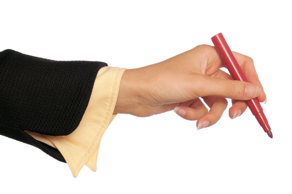 teacher red pen