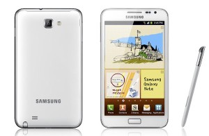 White Galaxy Note