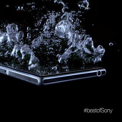 Xperia Z1 water