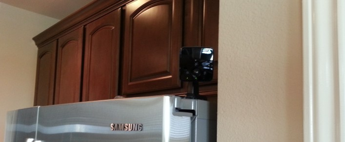 The Comcast Xfinity Home camera. There's motion detector capability too, but it's not turned on yet.