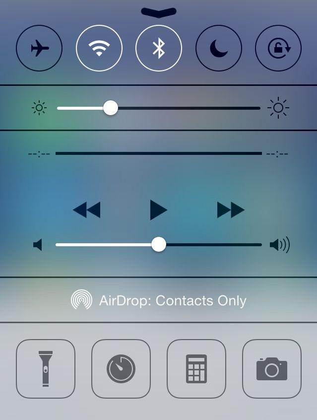 command center iOS 7