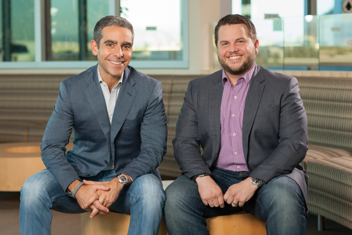Braintree CEO Bill Ready (right) with his soon-to-be boss, PayPal President David Marcus