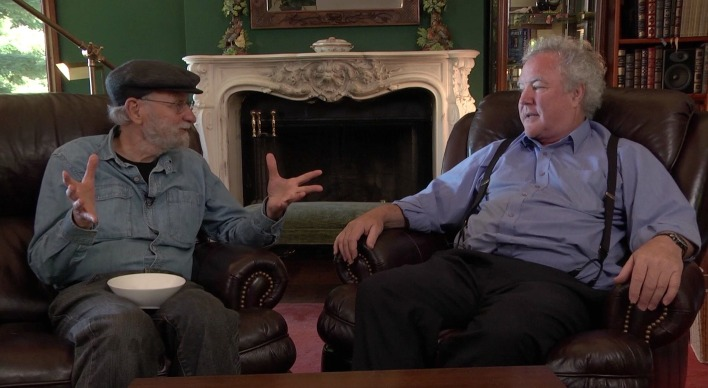 """Don interviewing Bruce """"Tog"""" Tagnazzini at his home about design concepts taught in Course 1."""
