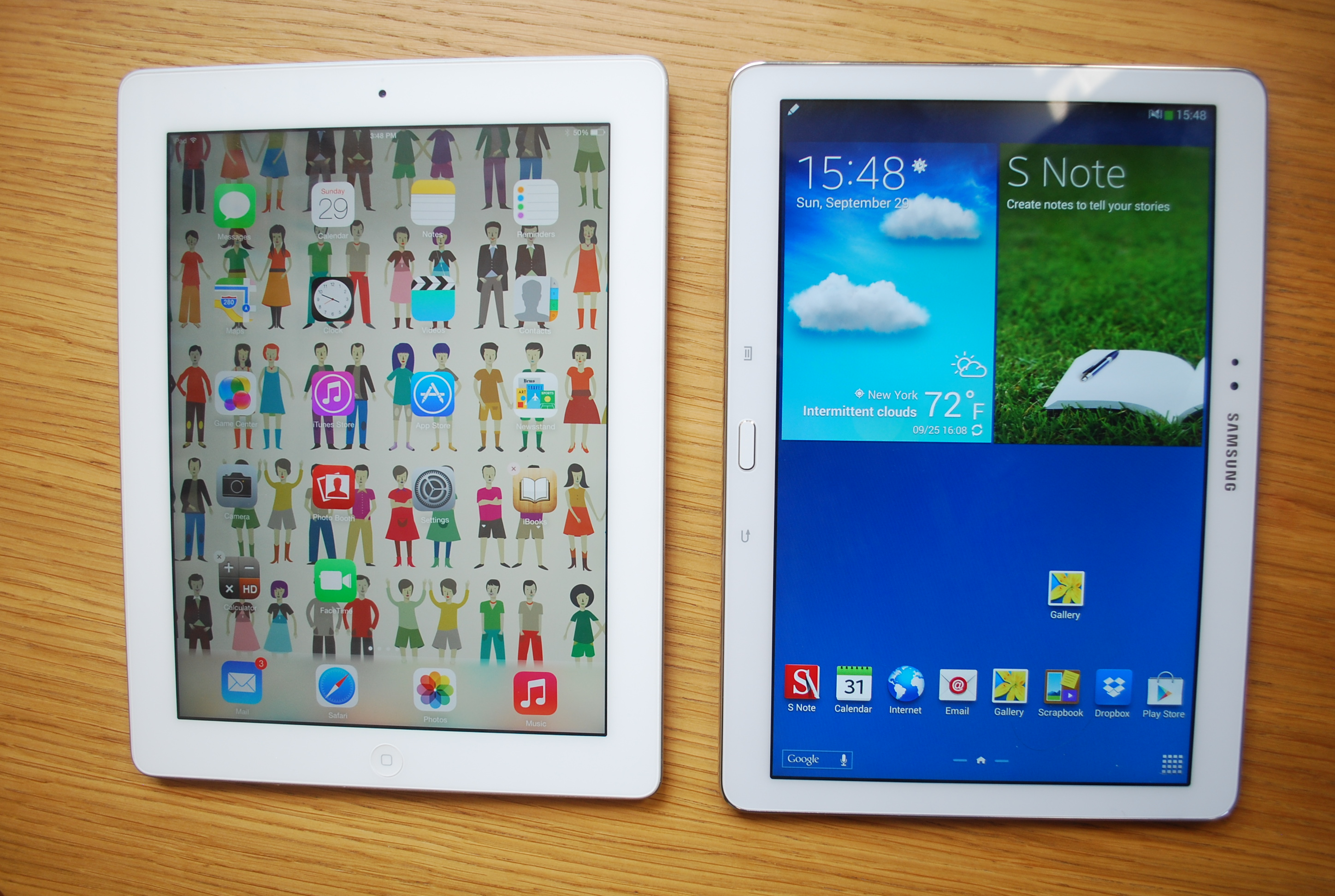 Galaxy Note 10.1 vs iPad