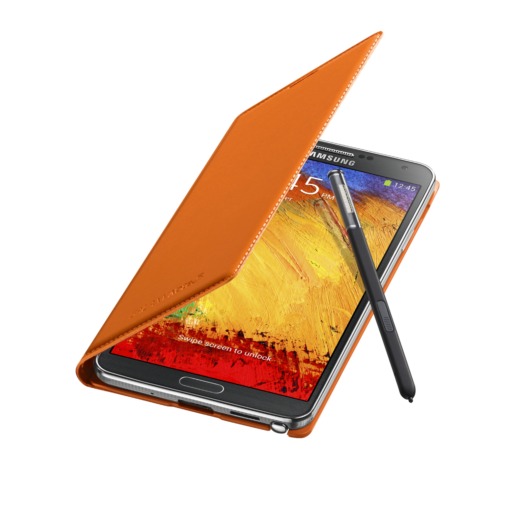 Galaxy Note3 FlipCover_004_Open Pen_Wild Orange