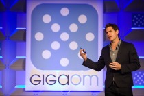 GigaOM backdrop and speaker