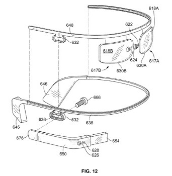 Google Glass 2-piece patent