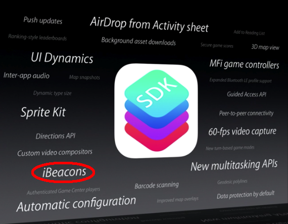 iBeacon Apple WWDC 2013 iOS 7
