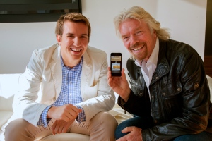 Clinkle CEO Duplan and Richard Branson