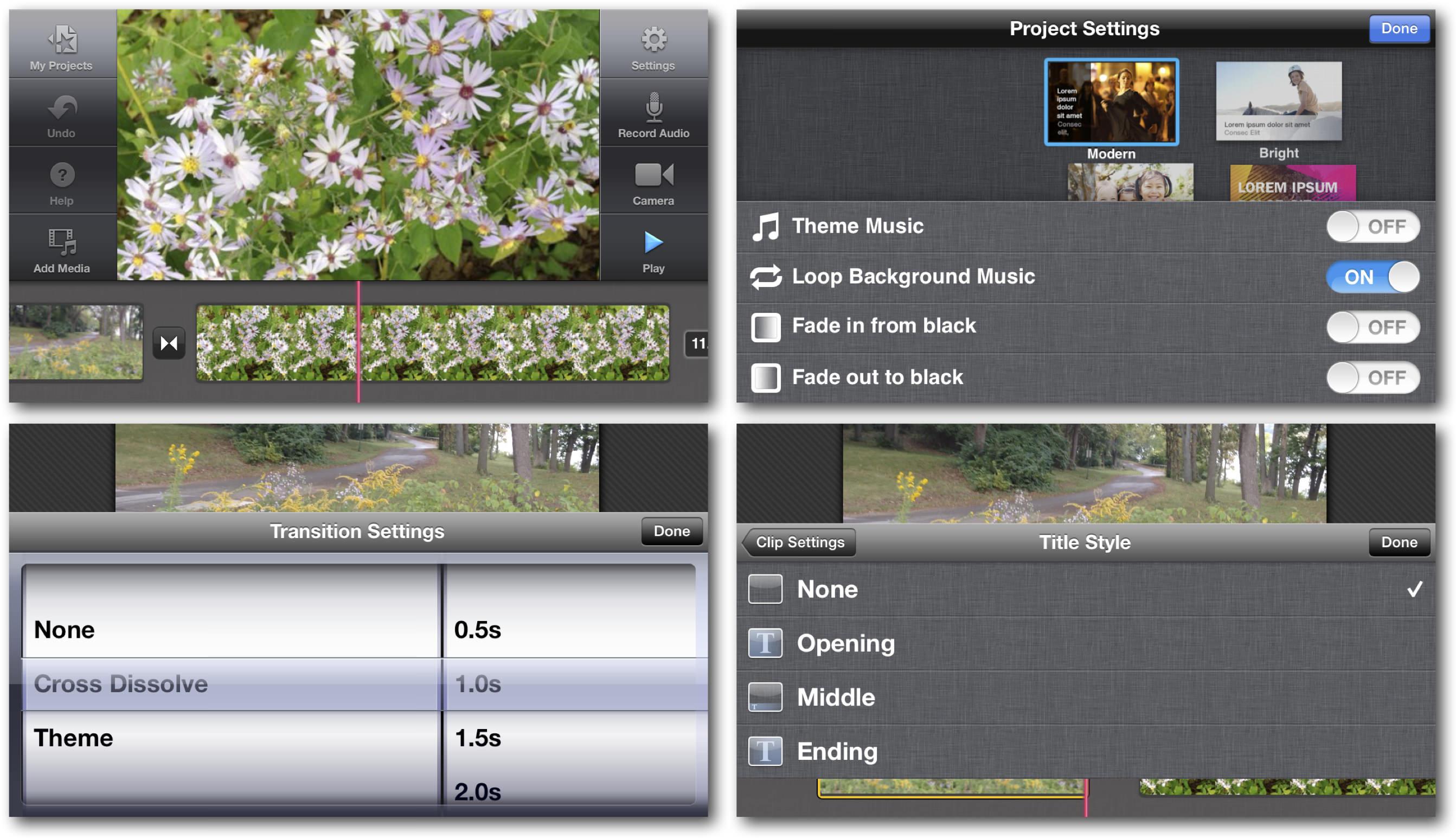 iOS 7 iMovie Editing
