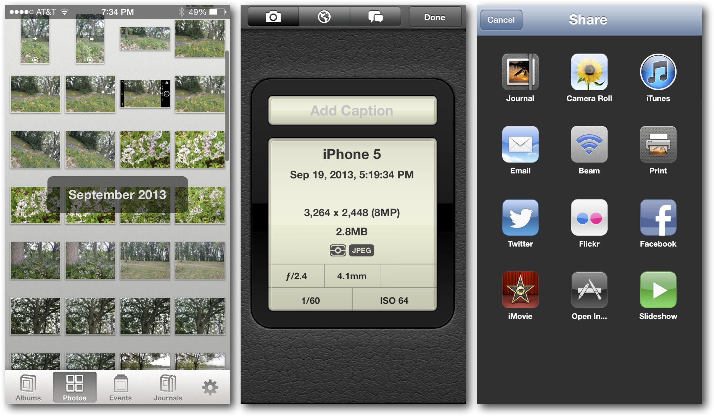 iOS 7 iPhoto Organizing