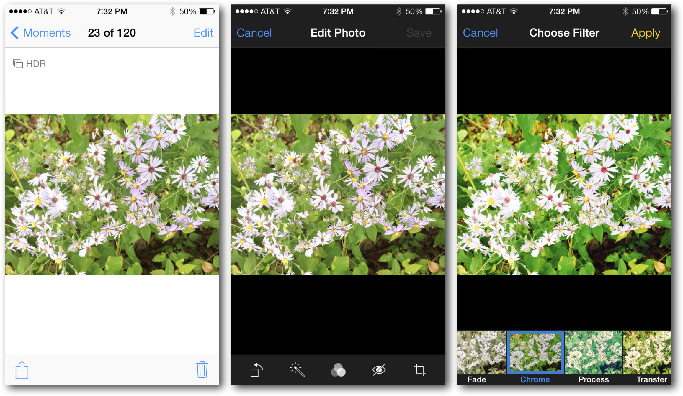 iOS 7 Photos Editing