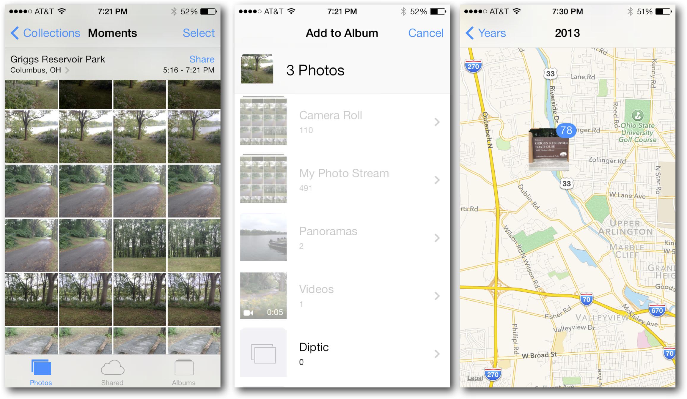 iOS 7 Photos Organizing