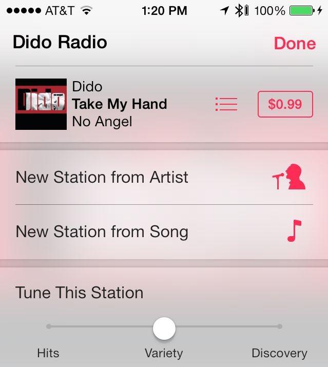iTunes Radio settings