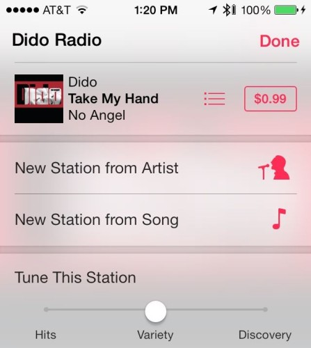 iTunes Radio settings