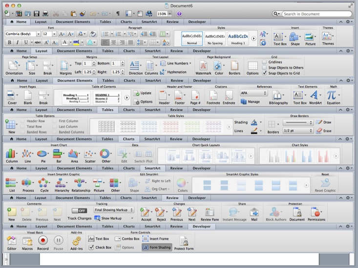 Microsoft Office suffers from a glut of features.