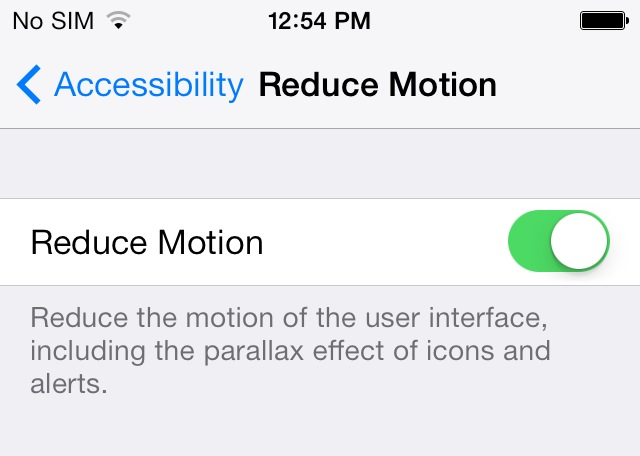 How to remove parallax in Apple iOS 7