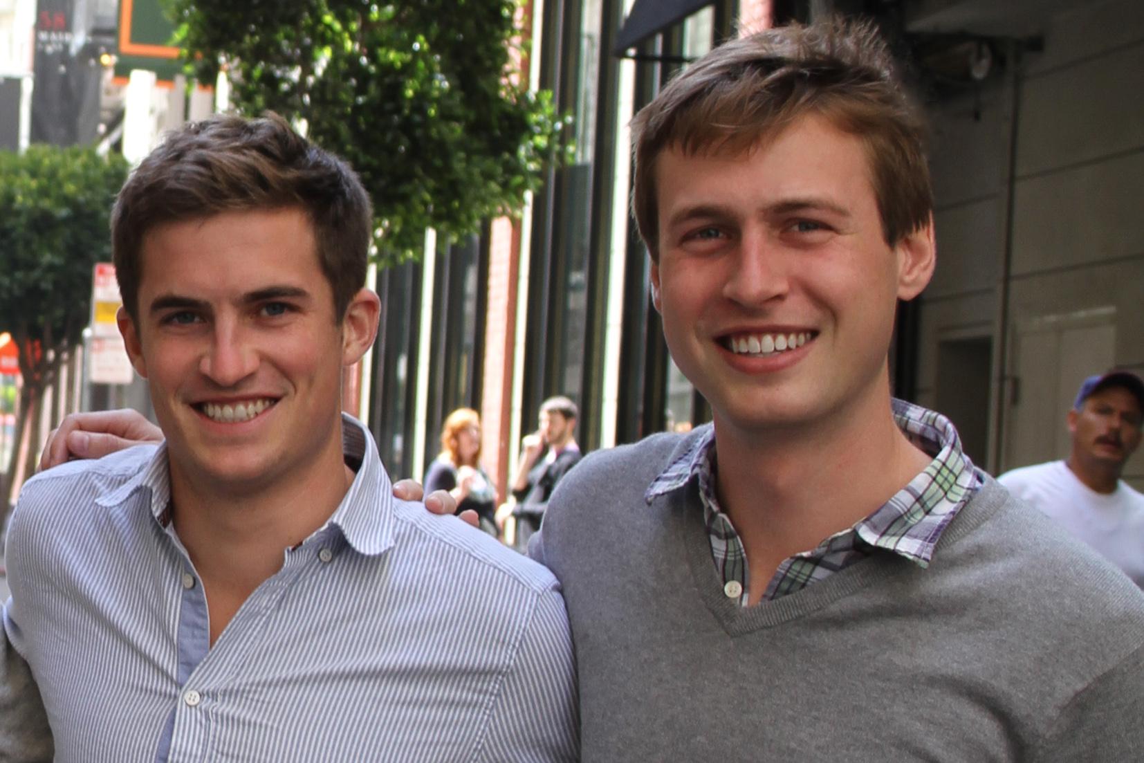 Plaid's founder. William Hockey is on the left, Zach  Perret is on the right.