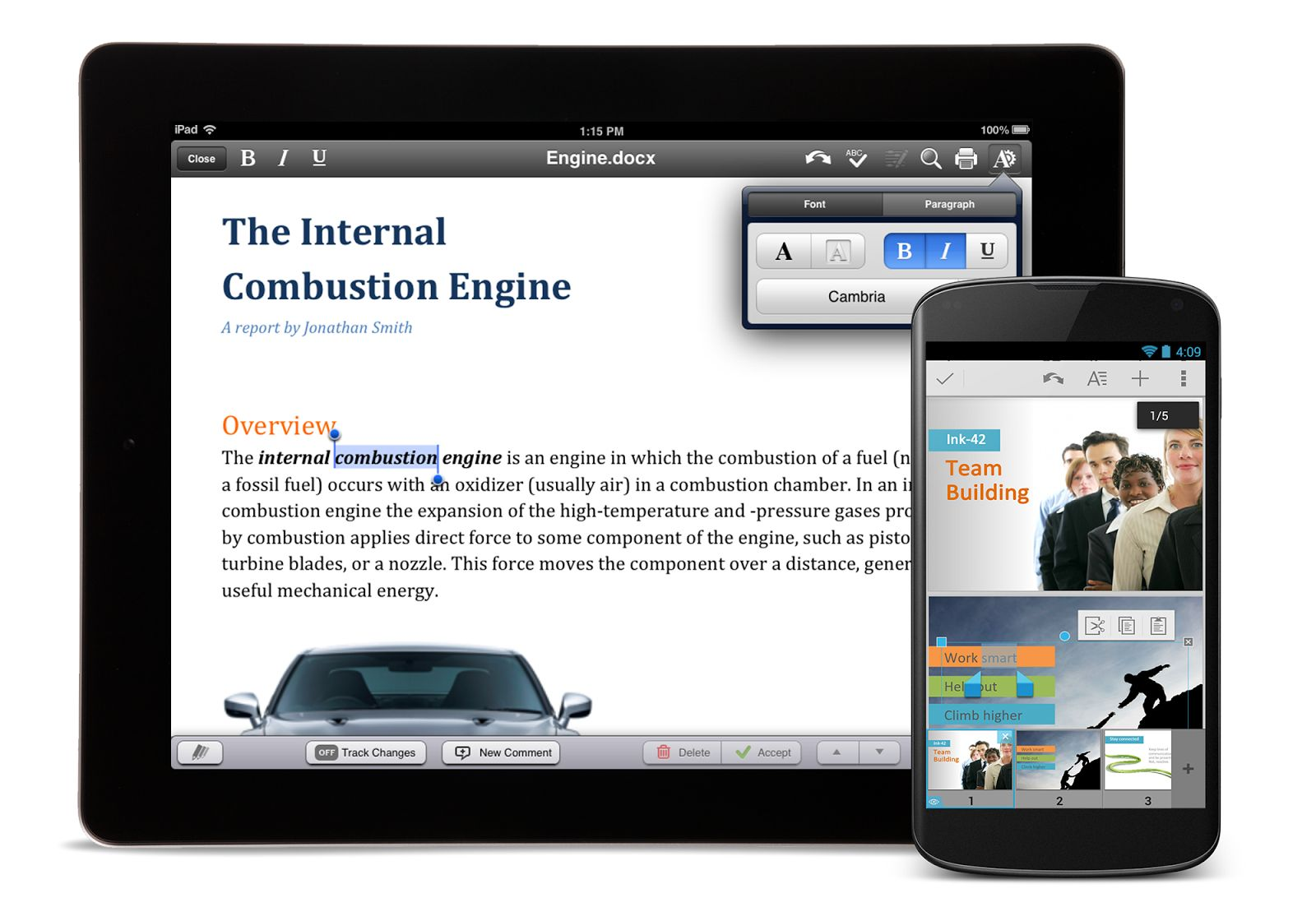 QuickOffice for iOS and Android