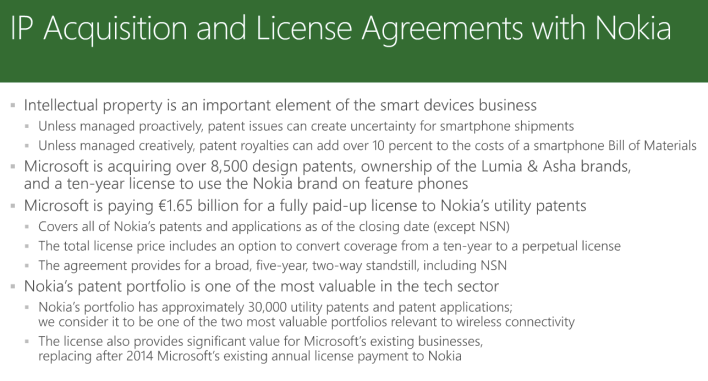 Screen shot re NOKIA IP