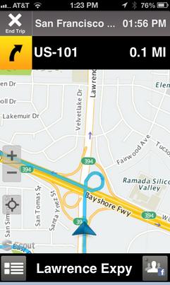 OpenStreetMap on Telenav Scout