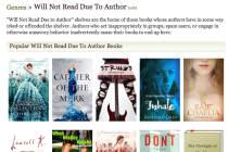 goodreads will not read due to author