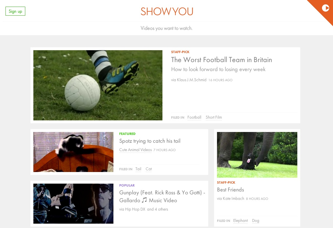 showyou front page
