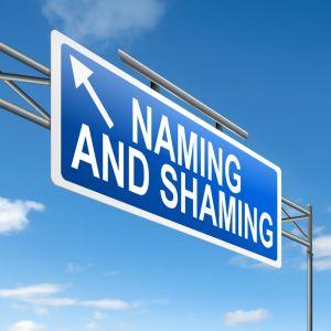 Naming and shaming