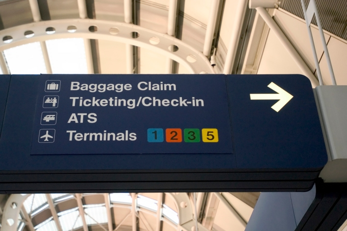 Chicago O'Hare Airport sign