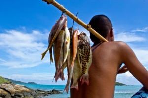 Moken Fisherman Andaman Islands
