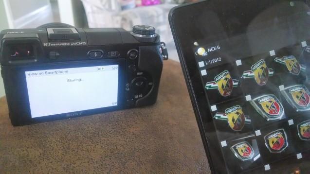 Sony camera WiFi sharing