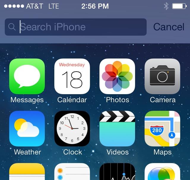 spotlight iOS 7