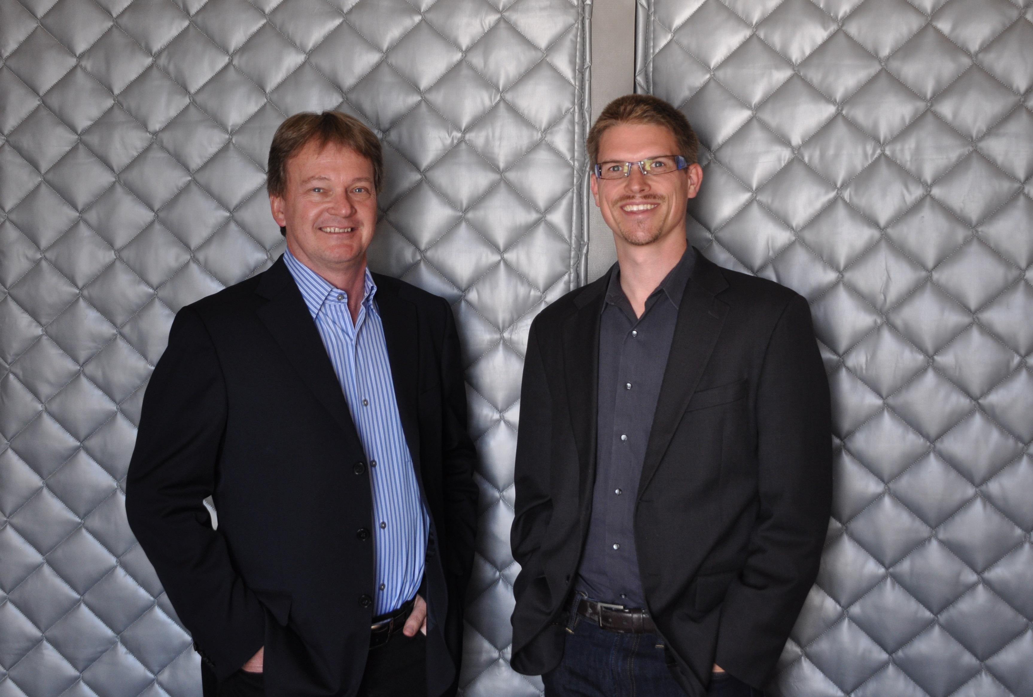 Nebula's new CEO Gordon Stitt and founder Chris Kemp.