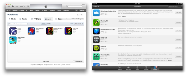 Update all Apps on your iOS Device and iTunes