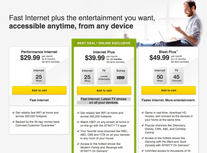 comcast internet plus