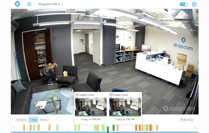 A sample of Activity Recognition working in the Dropcam office.