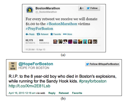 Fake Boston tweets