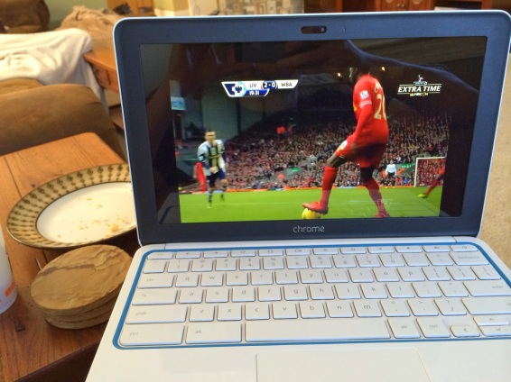 Football on the HP screen
