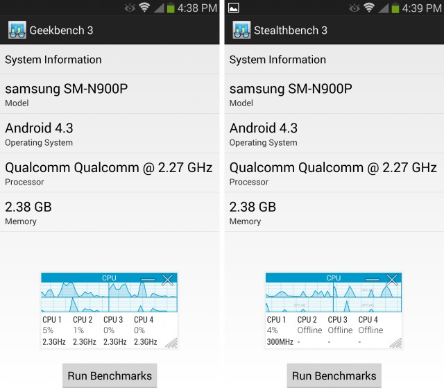 Galaxy Note 3 Geekbench