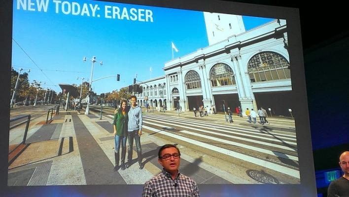 Google's secret weapon against photobombing: auto eraser.
