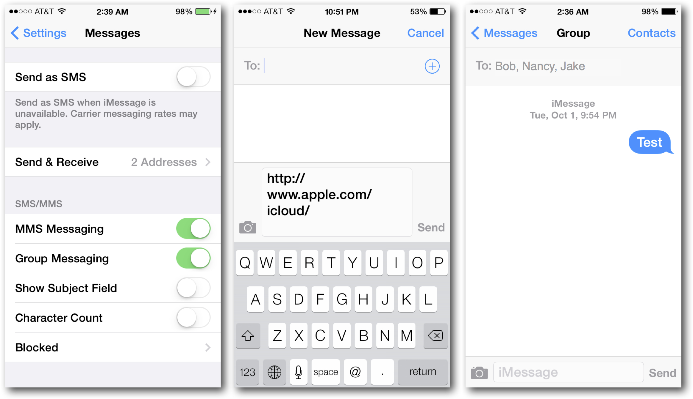 Group Messaging with iMessages