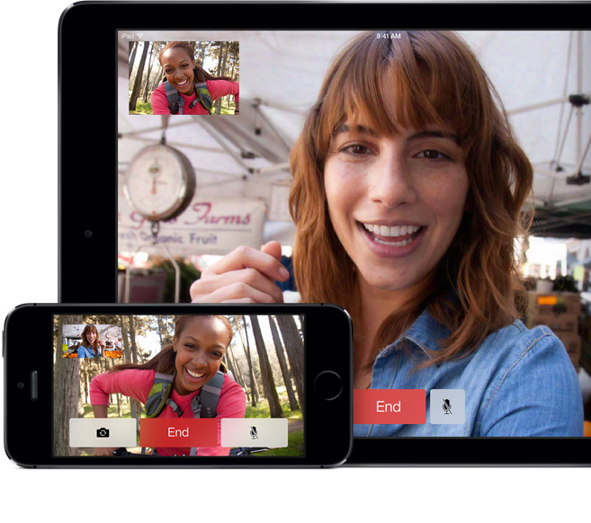 A mounted display could turn Facetime's one-off communcation into ambient telepresence.
